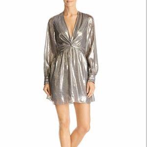 Ramy Brook Elise Mini Dress Pewter Size 4